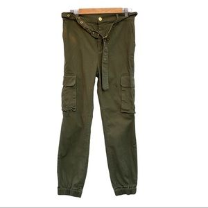 Love tree army green jogger trouser
